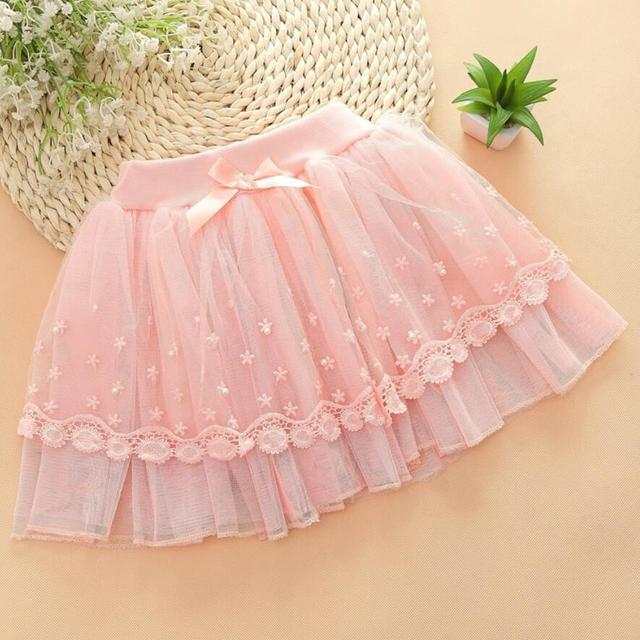 hot sale girls lovely tutu skirt for 5-10Y kids mesh lace skirt princess fashion clothes spring summer girls dancing skirt