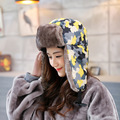 Fashion Women's Winter Hats Warm Men's Hat Ushanka Russian Hat Camo Female Faux Fur Hat Ear Flaps Bomber Cap For Men And Women