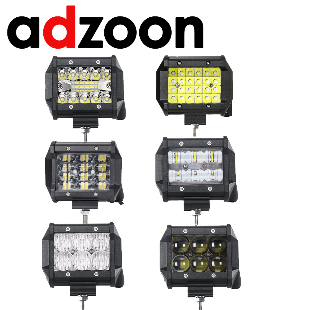 ADZOON 4inch Quad Row Triple Row 9D 5D 4D LED Work Light Bar for Tractor Boat OffRoad 4WD 4x4 Truck SUV ATV 12V 24v image