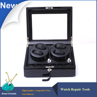 BC20 / BC46 High Grossy Black Carbon fiber Leather Inside Watch Winder Box,5 Modes Watch Winding Automatic Watch Winder 2 0 ,4 6
