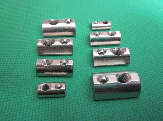 Half Round Nut M3 M4 M5 M6 Nut Shrapnel Steel Ball Nut Block For EU Standard 20 Aluminum Profile Elastic Nut 10pcs