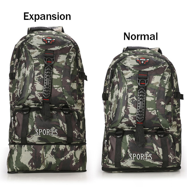 50L Waterproof Camouflage Outdoor Military Tactical Backpack Unisex Travel  Hiking Big Capacity Shoulder Rucksacks Camping Sports 9f76c54d8876d
