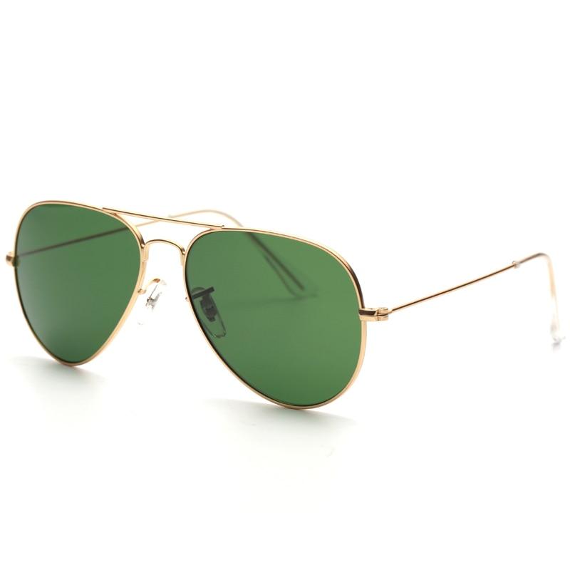 cd8463a493803 2018 óculos de sol Piloto homens de Luxo Real G15 lentes Para A Moda Adulto  de Alta qualidade moldura de Metal Reflexivo Óculos Óculos de Condução