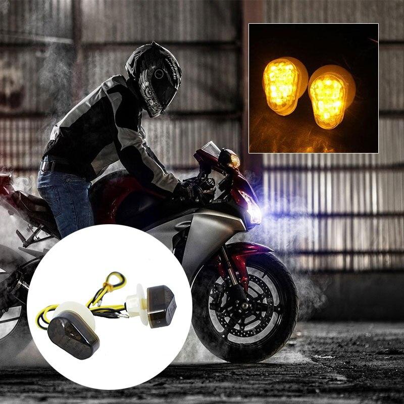 2 шт. мотоцикл светодиодный указатель поворота лампа сигнальные лампочки для Yamaha 12 V