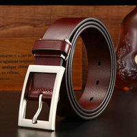 2018 New Fashion Vintage Belts Men Leather Excellent Quality Pin Buckle Cow Genuine Leather Man Belt