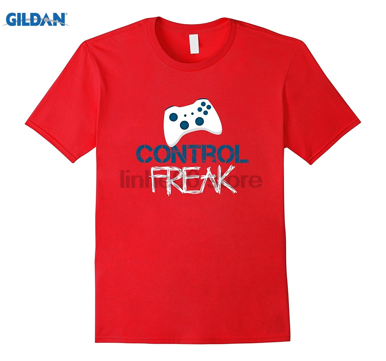 GILDAN Control Freak Video Gaming Addict Obsession Console T-shirt Womens T-shirt ...