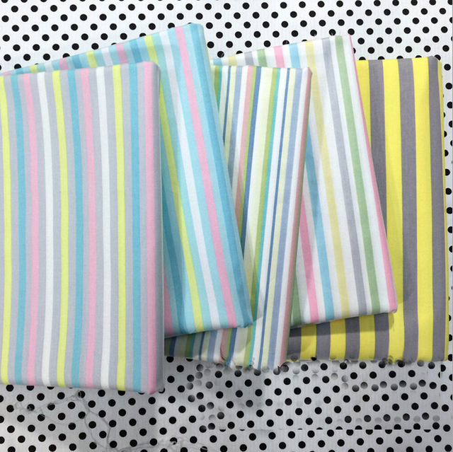 Stripe Print Cotton Fabric Patchwork Quilting Tilda Tissue Home ...