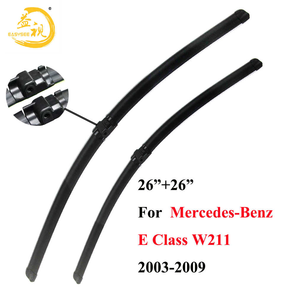 "Easysee Wiper blades for Mercedes-Benz E Class W211 (2003-2009)26""+26"",car wiper,Boneless wiper, windscreen wiper"