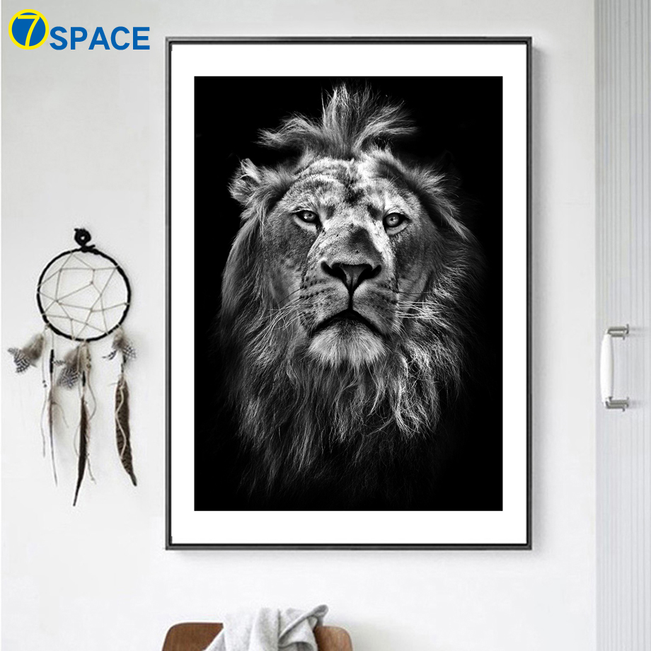 Black White Lion Quotes Wall Art Print Canvas Painting Nordic Posters And Prints Animal Pictures For Living Room Home Decor In Calligraphy