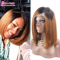 7A Full Lace Wigs Straight Human Hair Two Tone Human Hair Full Lace Wigs Remy #1b/30 Short Baby Hair Full Lace Human Hair Wigs