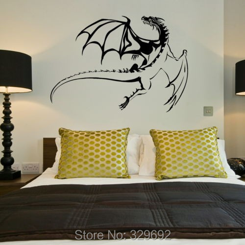 free shipping Dragon Vinyl removable wall sticker home s