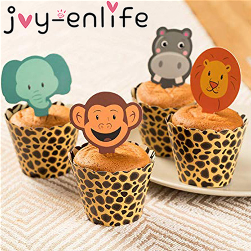 Wild One Jungle Safari Tribal Animals Sticker Labels Birthday Baby Shower Party Favors Set of 30