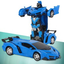 цена Gesture Sensing Remote Control Robot Cars Deformation Model Toy Car One Button Transformation Car For Kids Toy Gift FJ88