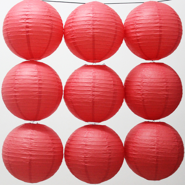 US $17 21 24% OFF|10pcs/lot 16 Inch 40cm Round Chinese Japanese Paper  Lantern Birthday Wedding Party Decoration Red Paper Ball Photo Props-in  Lanterns