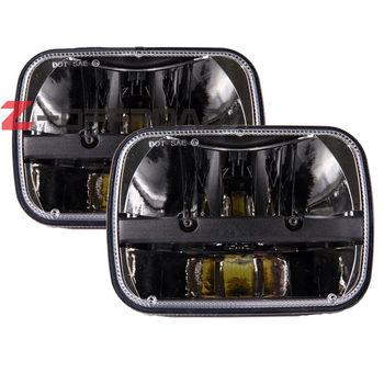 Square 5x7 led projector headlight black 6x7 led truck headlight for Jeep Cherokee XJ Trucks headlamp replacement