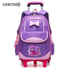 Removable Children Trolley School Bag Backpack Wheeled School Bag For Kids Girls Wheel Schoolbag Student Backpacks Bags недорого