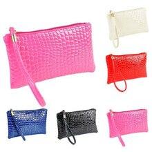 Женский кошелек, женская сумка из искусственной кожи крокодила на молнии, клатч, сумочка, сумочка, портмоне, кошелек 19*11*1,5 см, Oct#1