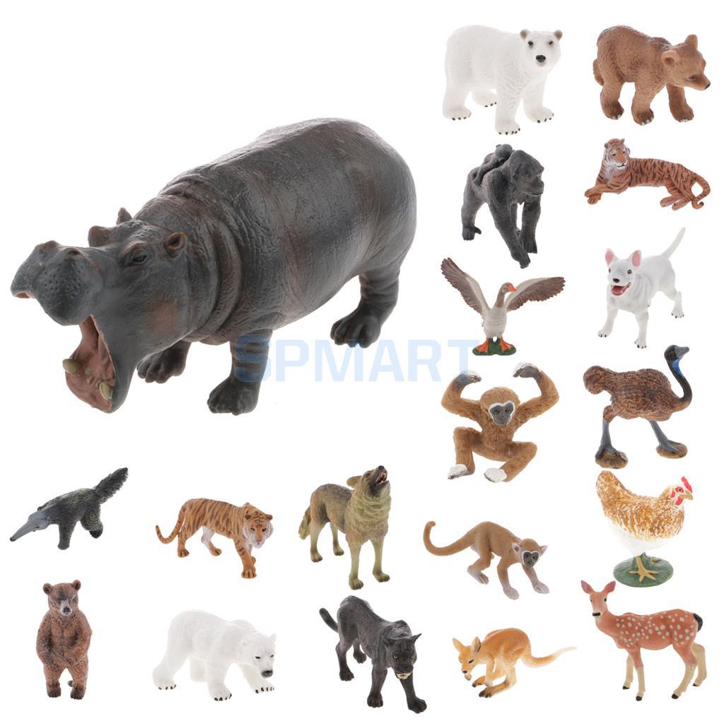 8pcs Farm Animals Models Figure Set Toys Plastic Simulation Horse Dog Kids  LS