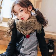 Корейский осенне-зимний теплый нагрудник Детский шарф вязаный Одноцветный жаккардовый вязаный детский нагрудник