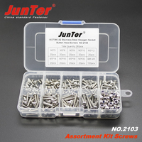 280pcs M3 3mm A2 Stainless Steel ISO7380 Button Head Hex Socket Screws Allen Bolts With Nylon