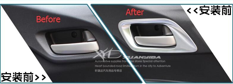 4PCS Inner Interior Door Handle bowl cover trim Fit Honda FIT JAZZ 2014 2015 New