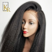 Kinky Straight Wig Brazilian Remy Lace Front Human Hair Wigs For Black Women Italian Yaki With Baby Natural Pre Plucked VS BOB(China)