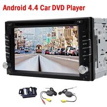 Universal Double 2 din 6.2 inch Touch Screen Android 4.4 car dvd player gps navigation Stereo Headunit Autoradio