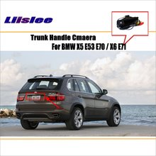 Car Rear View Camera For BMW X5 E53 E70 / X6 E71 / Reverse Camera / HD CCD RCA NTST PAL / License Plate Lamp OEM цены онлайн