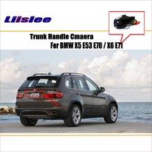 Liislee Macchina Fotografica di Retrovisione Per BMW X5 E53 E70/X6 E71/Inversione Della Macchina Fotografica/HD CCD RCA NTST PAL/Trunk Maniglia OEM