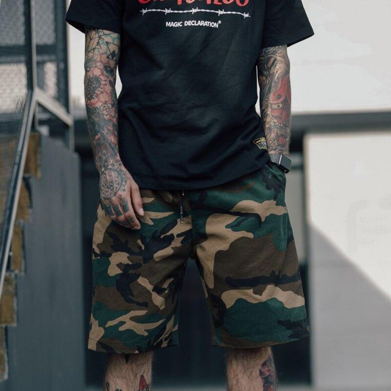 Hip Hop Camouflage Shorts Mens Fashion Loose Streetwear Cargo Shorts 2018 New Short Pants W0043