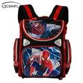 Детский рюкзак школьный ортопедический школьный рюкзак для мальчиков Водонепроницаемая детская раскраска Сумка Человек-паук мотоцикл дев...
