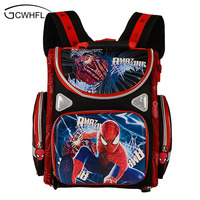 Kids Backpack School Orthopedic Boys School Bags Waterproof Child Book Bag Spiderman Motorbike Girls School Bags Kids Satchel