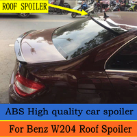 For Mercedes Benz W204 Roof Spoiler 2008 2014 C class C180 C200L C63 Spoiler High Quality ABS Car Rear Wing Spoiler