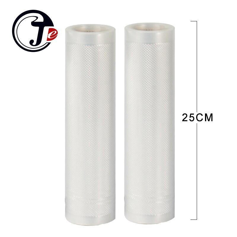 2 rolle 25*500 CM verschließmaschine pakete taschen für vakuum-verpackungsmaschine getreidesack für Wrapper vakuum lebensmittel sealer maschine