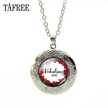 TAFREE Simple Art Photo Locket Pendant Valentine s Day Gift Silver Color  Girls Dainty Necklace for Women gift Jewelry FQ767 7e133eec9da0