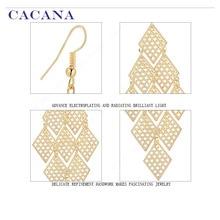 CACANA  Dangle Long Earrings For Women Rhombus Perfect Bijouterie Top Quality Hot Sale No.A748 A749