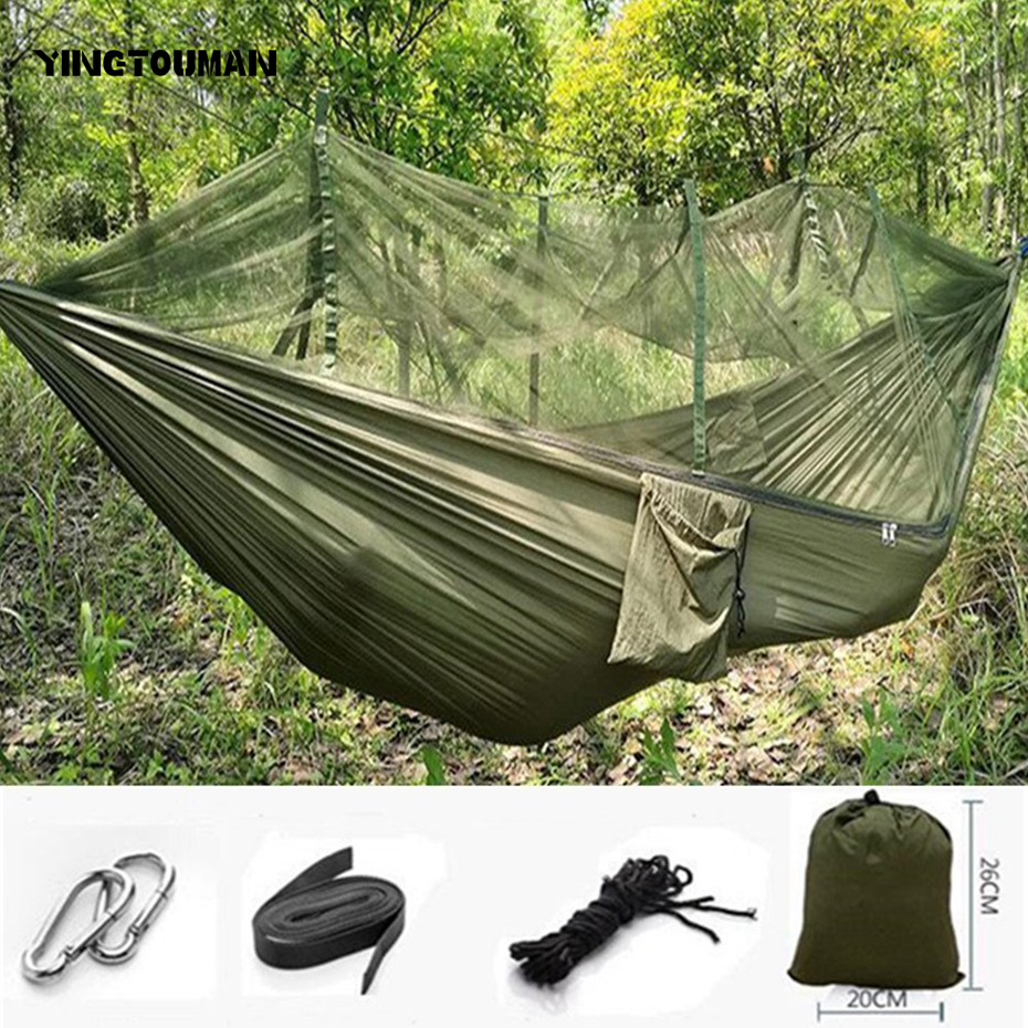 Reliable Yingtouman Camouflage Swing Seat Indoor Outdoor Hanging Seat Anti-mosquito Bit Hammocks Garden Camping Hanging Bed Sleeping Bag Strengthening Sinews And Bones Camping & Hiking Sports & Entertainment