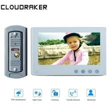 CLOUDRAKER10'' Big Screen Video Intercom System 1x Monitor with 1x peephole Wired Video Door Phone Camera IR Unlock