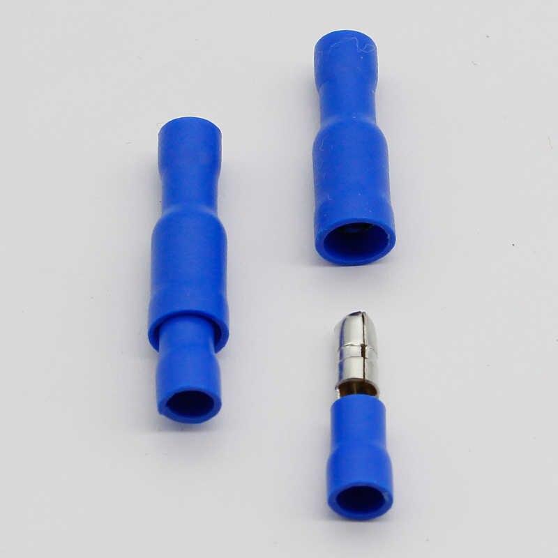 Conector 50x Azul Bala Terminales Aislados Crimp Para Cableado Eléctrico