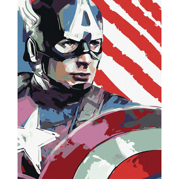 Avengers - Captain America Frameless Pictures Painting By Numbers DIY Digital Oil Painting On Canvas Home Decoration 40X50CM