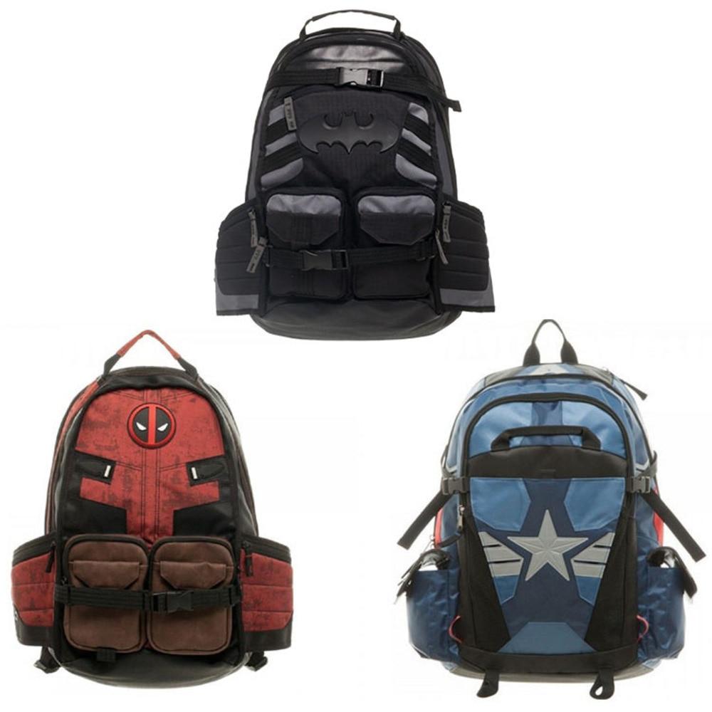 deadpool Batman Marvel Comics Super Hero Movie Civil War School Bags Men Rucksack Mochila Bag Backpacks shoulder crossbody law school basics civil procedure