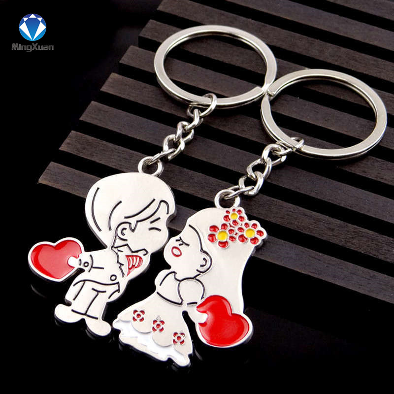 Novelty Items Casual Par Kärlek Keychain Cartoon Key Chain Lovers - Märkessmycken - Foto 3