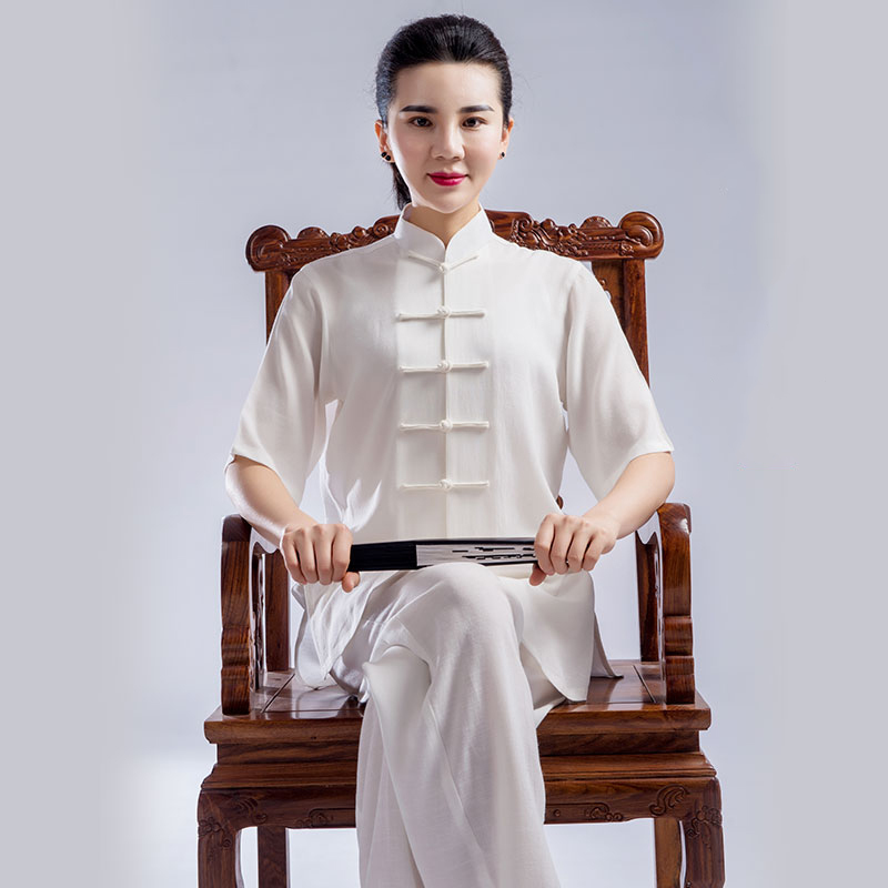 Summer Tai Chi clothes Men And Women Product Tencel Flax Martial Performance Practice clothes Taiji Boxing Clothing Short Sleeve spirituals and gospel music performance practice