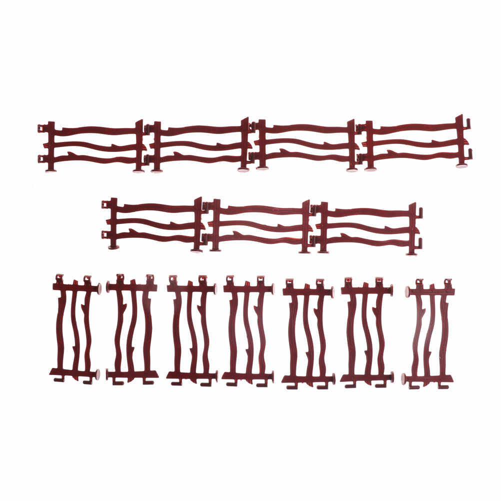 14PCS Military Plastic Toy Fence Rail Board Soldier Army Men Accessories Railway Modeling Model Building Kit