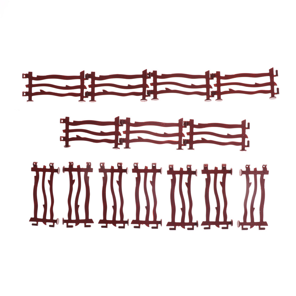 14pcs Railway Modeling Model Building Kit Military Fence Rail Board Plastic Toy Soldier Army Men Accessories