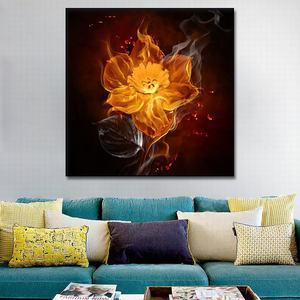 Image 4 - مجردة النفط pating الزخرفية رسمت التدخين الألعاب النارية جدار الفن قماش المشارك الصورة الحديثة شرارة لوحة قماش بطباعة فنية