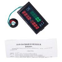 Multi-fonction DL69-2047 active puissance AC 80-300 V numérique voltmètre 100A ampèremètre énergie actuel panel voltmètre 40% off