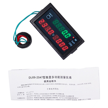 Multi-function DL69-2047 active power AC 80-300V digital voltmeter 100A ammeter energy current panel volt Meter 40%off