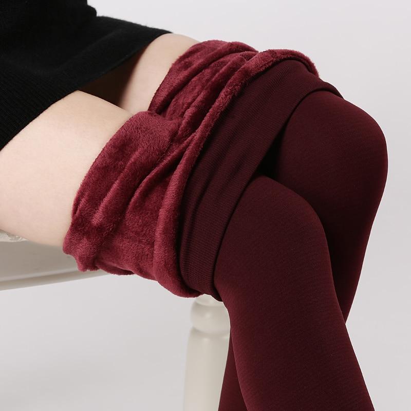 s-3xl высокого упругие талии зимой плюс бархат сгущаются женщин теплые штаны леггинсы хорошего качества кашемир толстые брюки