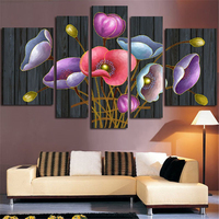 Diy 5D diamond painting Abstract poppy flower pattern Round/square mosaic for home decoration gift 5 sets picture combined DK062